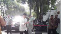 Wakil Gubernur DKI Jakarta Sandiaga Uno bersilaturahmi ke rumah Megawati Soekarnoputri di Jalan Teuku Umar, Menteng Jakarta, Jumat (15/6/2018).