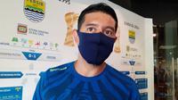 Gelandang Persib Bandung, Esteban Vizcarra. (Bola.com/Erwin Snaz)