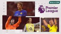 Edwin van Der Sar, Petr Cech, Pepe Reina dan David Seaman. (Bola.com/Dody Iryawan)