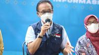 Ketua Harian Satgas Penanganan COVID-19 Daud Achmad saat menjadi pembicara dalam JAPRI (Jabar Punya Informasi) pada 11 Juni 2021 di Gedung Sate, Kota Bandung. (Foto: Dinkes Jabar)