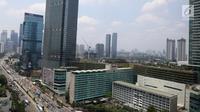 Pemandangan gedung bertingkat di kawasan Bundaran HI, Jakarta, Kamis (14/3). Kondisi ekonomi Indonesia dinilai relatif baik dari negara-negara besar lain di Asean. (Liputan6.com/Angga Yuniar)