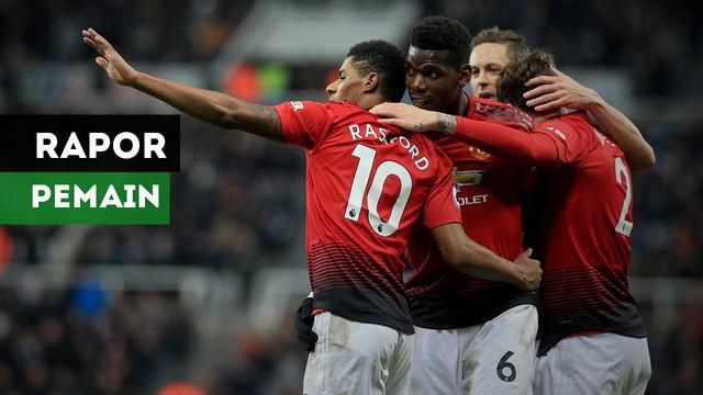 Berikut nilai para pemain Manchester United usai menaklukkan Newcastle dengan skor 2-0 menurut Mirror.