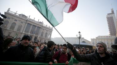 Ilustrasi bendera Italia (AFP/Marco Bertorello)