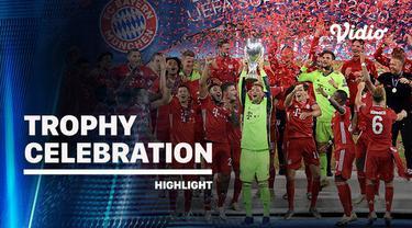 Berita Video Selebrasi juara Bayern Munchen usai raih trofi Piala Super Eropa 2020
