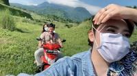 Via Vallen liburan ke Ranu Manduro, Mojokerto, Jawa Timur (Sumber: Instagram/viavallen)