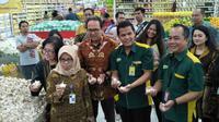 Direktur Jenderal Perdagangan Dalam Negeri, Tjahya Widayanti akan melaksanakan pemantauan harga di ritel modern Giant Bintaro.
