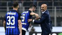 Luciano Spalletti ingin pemain Inter Milan tetap rendah hati pascakemenangan atas AC Milan. (AFP / MIGUEL MEDINA)