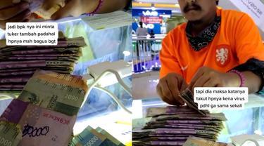 Seorang anak membelikan ponsel untuk ibunya