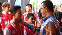 Menteri Pemuda dan Olahraga (Menpora) Imam Nahrawi meresmikan Sekolah Khusus Olahraga (SKO) di Solo, Kamis (20/12/2018). (Bola.com/Vincentius Atmaja)