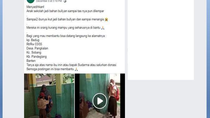 [Cek Fakta] Video Viral Anak dan Ibu Menangis Karena Dibully di Sekolah, Fakta atau Hoaks?