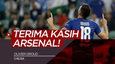 Berita video striker Chelsea, Olivier Giroud, seperti mengolok-olok mantan klubnya dengan berterima kasih kepada Arsenal setelah meraih gelar juara Liga Europa 2018-2019.