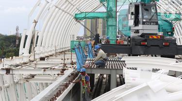 FOTO: Melihat Progres Pembangunan Stasiun LRT Dukuh Atas