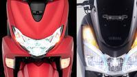 Yamaha FreeGo S-ABS vs Lexi S (Otosia.com)