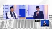 Ma'ruf Amin dan Sandiaga Uno di Debat Cawapres, Minggu, 17 Maret 2019. (dok. screenshot Vidio.com)