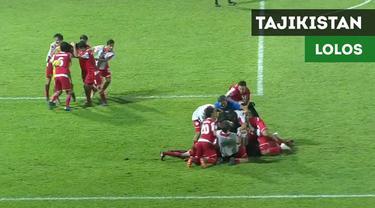 Berita video momen kemenangan secara dramatis Tajikistan atas Korea Utara yang membawa mereka lolos ke semifinal sekaligus meraih tiket Piala Dunia U-17 di Peru, Minggu (30/9/2018).