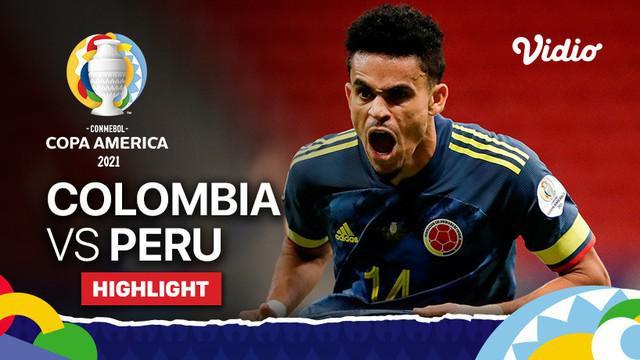 Berita video highlights Copa America 2021, pertandingan antara Kolombia melawan Peru, Minggu (10/7/20121).
