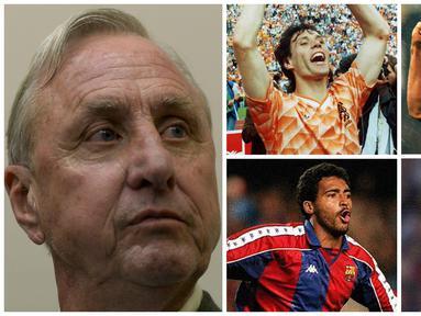 Johan Cruyff tak hanya piawai mengolah si kulit bundar, legenda sepak bola dunia ini ternyata juga mahir memoles pesepak bola untuk menjadi bintang. Berikut 10 bintang top dunia hasil didikan pria Belanda itu selama karier kepelatihannya.