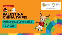 Jadwal Sepak Bola Asian Games 2018, Palestina vs China Taipei. (Bola.com/Dody Iryawan)