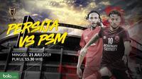 Final Piala Indonesia Leg 1: Duel Pemain Persija Jakarta vs PSM Makassar. (Bola.com/Dody Iryawan)