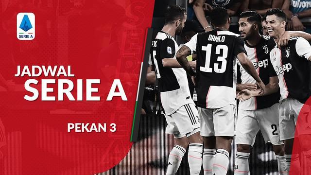 Berita video jadwal Serie A 2019-2020 pekan ke-3. Juventus bertandang ke markas Fiorentina.