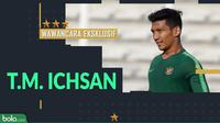 Wawancara eksklusif T.M. Ichsan. (Bola.com/Dody Iryawan)
