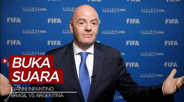 Berita Video, Presiden FIFA, Gianni Infantino Angkat Bicara usai Insiden Brasil Vs Argentina di Kualifikasi Piala Dunia