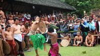 Perang Pandan merupakan tradisi di Desa Tenganan, Kabupaten Karangasem, Bali. (Liputan6.com/Dewi Divianta)