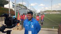 Alfredo Vera, Pelatih Kepala Indonesia di Danone Nations Cup (Liputan6.com / Jonathan Pandapotan)