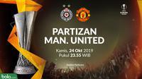 Liga Europa - Partizan Vs Manchester United (Bola.com/Adreanus Titus)