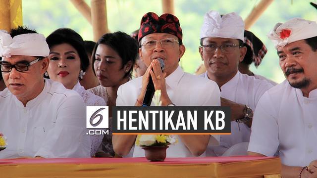 Alasan Gubernur Bali Hentikan KB 2 Anak Cukup