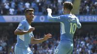 Masuk paruh kedua, Man City terus mengurung pertahanan Arsenal. Ketika babak kedua berjalan 53 menit, Rodri memperbesar keunggulan The Citizens menjadi 4-0. (Foto: AP/Rui Vieira)