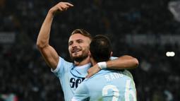 2. Ciro Immobile (Lazio) - 15 Gol (6 Penalti). (AFP/Vicenzo Pinto)