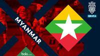 Piala AFF 2018 Timnas Myanmar (Bola.com/Adreanus Titus)