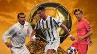 Ilustrasi - Zinedine Zidane, Cristiano Ronaldo, Luka Modric (Bola.com/Adreannus Titus)