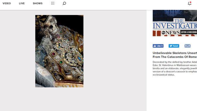 Cek Fakta - temuan kerangka manusia yang mengenakan perhiasan (Screengrab/abcnews.go.com)