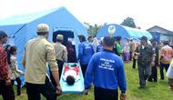 Simulasi kebencanaan untuk membentuk kampung tangguh bencana. (Foto: Liputan6.com/Muhamad Ridlo)
