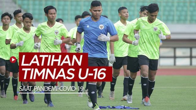 Berita video penjelasan pelatih Bima Sakti soal latihan Timnas Indonesia U-16 dengan protokol kesehatan yang ketat di tengah pandemi COVID-19 pada Senin (6/7/2020).