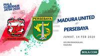 Piala Gubernur Jatim 2020: Madura United vs Persebaya Surabaya. (Bola.com/Dody Iryawan)