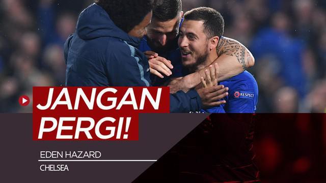 Berita video Eden Hazard dikabarkan akan hengkang dari Chelsea, tim yang baru saja lolos ke final Liga Europa 2018-2019. Rekan setimnya berharap hal itu tidak akan terjadi.