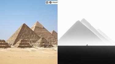 Menakjubkan, 6 Foto Piramida Giza Ini Hasilnya Diubah Jadi Efek Monokrom