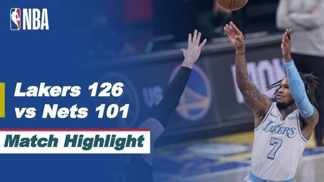 Berita video highlight NBA, LA Lakers berhasil menang dari tim tuan rumah Brooklyn Nets.