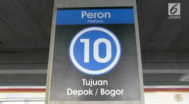 Dirjen Perkeretaapian melakukan perpindahan jalur sementara dengan tujuan Bogor dan Depok