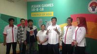 Menteri Pemuda dan Olahraga Republik Indonesia, Imam Nahrawi, mendukung bergulirnya Journalist Games 2017 yang akan digelar pada 8 dan 9 Desember 2017. (Bola.com/Benediktus Gerendo Pradigdo)