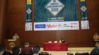 Plt. Dirjen Binapenta dan PKK Kementerian Ketenagakerjaan, Aris Wahyudi saat membuka UI Career & Scholarship Expo XXIX di Balairung Kampus UI, Kota Depok, hari Kamis (5/3).