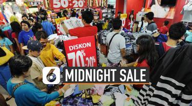 Jelang akhir tahun, banyak pusat  perbelanjaan adakan midnight sale. Perlu lakukan tips belanja untuk hadapi midnight sale.