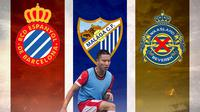 Ilustrasi Arthur Irawan - Espanyol, Malaga, dan Waasland-Beveren (Bola.com/Adreanus Titus)