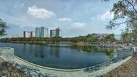 Pembangunan Hutan Kota Kemayoran. foto: istimewa