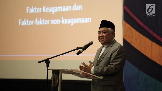 Sambutan UKP-DKAP Din Syamsuddin saat pembukaan Musyawarah Besar Pemuka Agama untuk Kerukunan Bangsa di Jakarta, Kamis (8/2). Pertemuan ini membahas di antaranya NKRI, Pancasila, Bhinneka Tunggal Ika. (Liputan6.com/Arya Manggala)#source%3Dgooglier%2Ecom#https%3A%2F%2Fgooglier%2Ecom%2Fpage%2F%2F10000