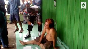 Diduga akan bunuh diri seorang pria diamankan warga. Diduga pria tersebut mengkonsumsi pil PCC