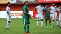Cristian Gonzales dalam laga PSS Sleman kontra Madura FC, Rabu (2/5/2018) di Stadion Maguwoharjo, Sleman. (Bola.com/Ronald Seger)